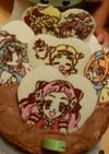 プリキュアケーキチョコプレートの作り方