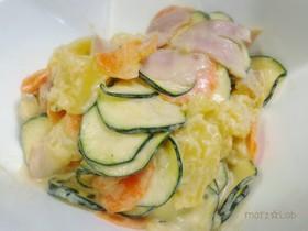 ズッキーニとじゃが芋のコールスローサラダ