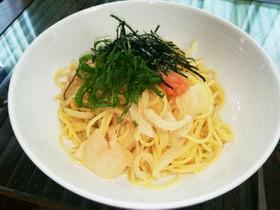 お鍋で簡単!明太子(たらこ)スパゲッティ