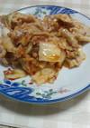 豚肉のニンニクキムチ炒め