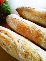 ☆冷蔵低温発酵☆全粒粉入りフランスパンの写真