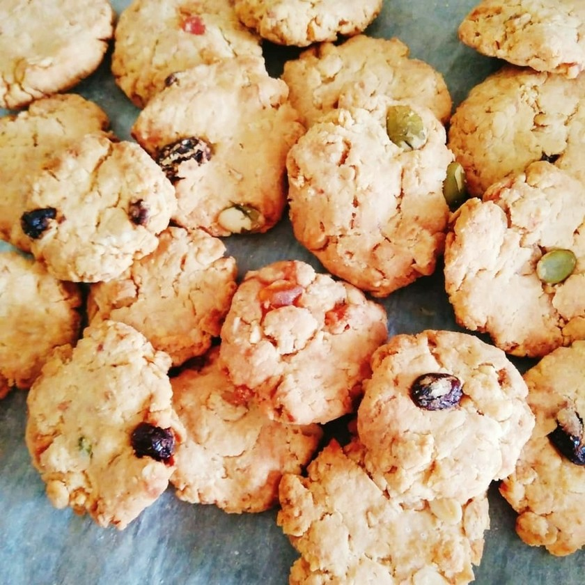 ヘルシー♪大豆粉とフルグラのクッキー