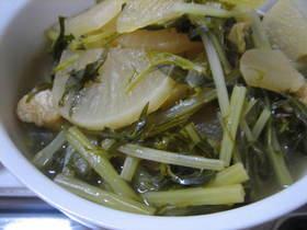 大根と水菜の煮物