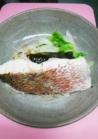 今日の晩ご飯!野菜と鯛の昆布蒸し