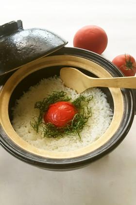 【野菜ソムリエ】まるごとトマト土鍋ごはん