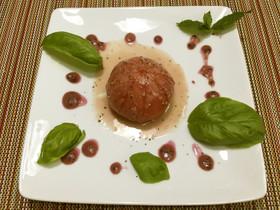 葡萄ドレッシングの冷製トマトサラダ