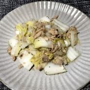 ツナと白菜の胡麻油炒め