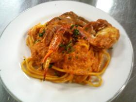 ワタリ蟹のトマトクリームパスタ