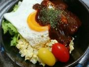 ざくざく混ぜて♥簡単手作り  ロコモコ丼の写真