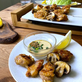テーブルグリルで鶏もも肉のマヨポンダレ