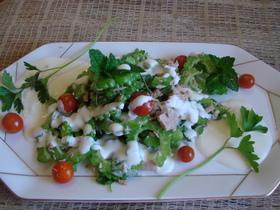 ゴーヤ、トマト、ツナのヨーグルトサラダ