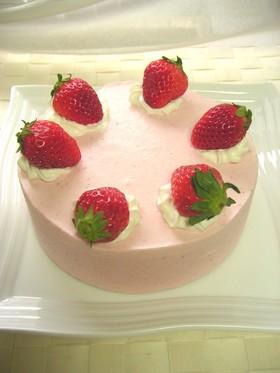 春色❤苺のムースケーキ