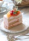 桃ジャム・ミルフィーユなロールケーキ