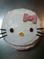 キティのキャラケーキの写真