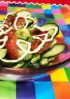 トマトとアボカド&オクラ&きゅうりサラダ