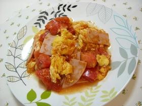 ふんわり卵とトマトのケチャップ炒め♫