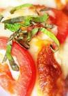 大葉とフレッシュトマトのピザ♡