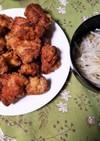 鶏もも肉のジューシー唐揚げ&もやしナムル