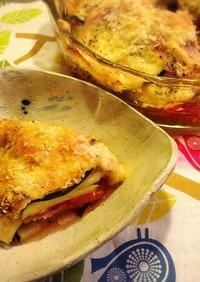 ズッキーニのオーブン焼き+レンジで手軽に