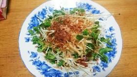 大根とおくらの新芽のポン酢サラダ