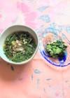 モロヘイヤとオクラの麺つゆ☆素麺・うどん