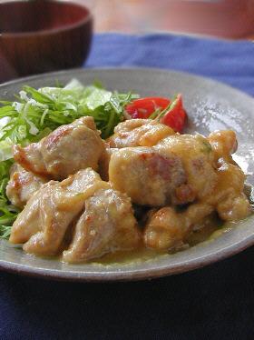 鶏肉のまろやか味噌炒め