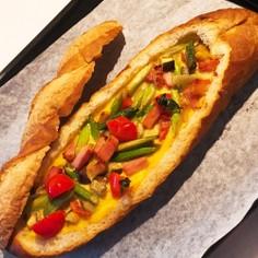 フランスパンでキッシュ