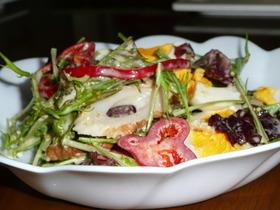 水菜と卵のごまだれサラダ