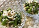 つるむらさきと玉葱としらすのサラダ