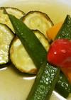 ズッキーニと夏野菜の揚げびたし