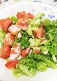 冷凍トマトとレタスのサラダ