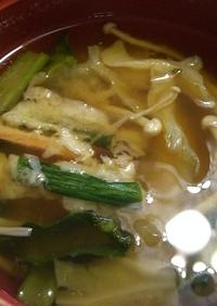 天ぷらinお味噌汁