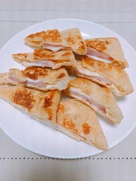 ベーコンとチーズの油揚げはさみ焼き