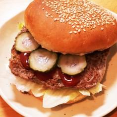 朝ごはん&ランチにも超簡単!ハンバーガー