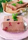 チョコレートとベリーの♥フルーツテリーヌ
