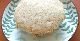 朝ごはんに米粉蒸しパン,きなこ味