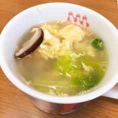 鳥肉の茹で汁で!出汁が美味しいスープ♡