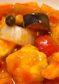 トマト缶で!鶏ムネ肉と野菜のトマト煮