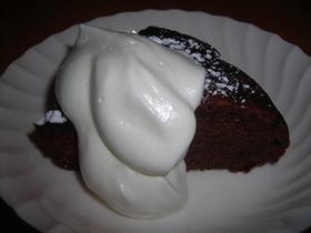 レンジ使用☆簡単!濃厚チョコレートケーキ
