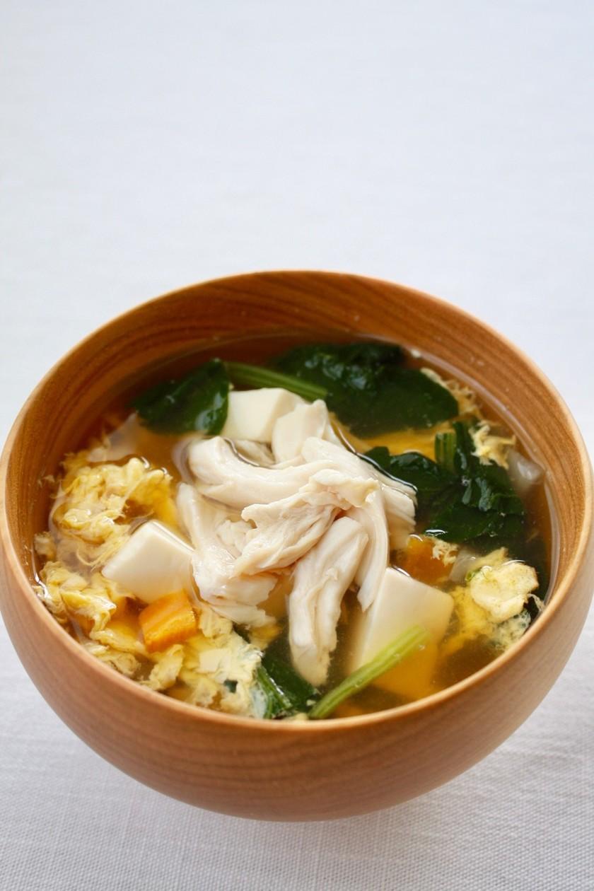 消化のいいスープ【しっとりささ身スープ】