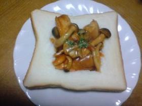 若鶏とシメジのキャンベルトマトスープ煮