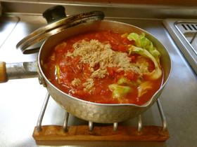 最速のトマト缶とツナ缶のキャベツスープ