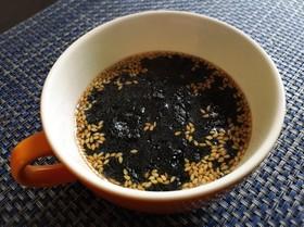 お湯を注ぐだけ☆簡単白ごまと海苔のスープ