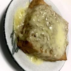 ずぼらに糖質制限!絹厚揚げツナチーズのせ