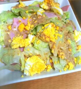レタスと茹で卵のサラダ