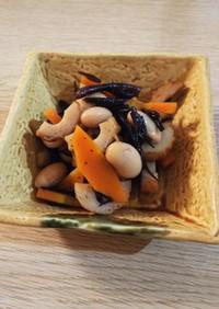 めんつゆで簡単☆大豆とひじきの煮物