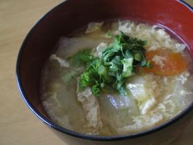 生姜であったか✿ほわほわ✿かきたま味噌汁