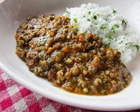 野菜充実挽肉カレー