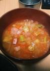 冷蔵庫が片付くトマトとオクラのスープ