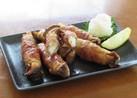 豚バラ肉とエリンギの照り焼き